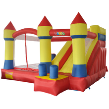 лучшая цена Gift PE Balls Blower YARD Inflatable Bouncer Games Castle Slide Inflatable Bouncer Trampoline Ship Express Christmas