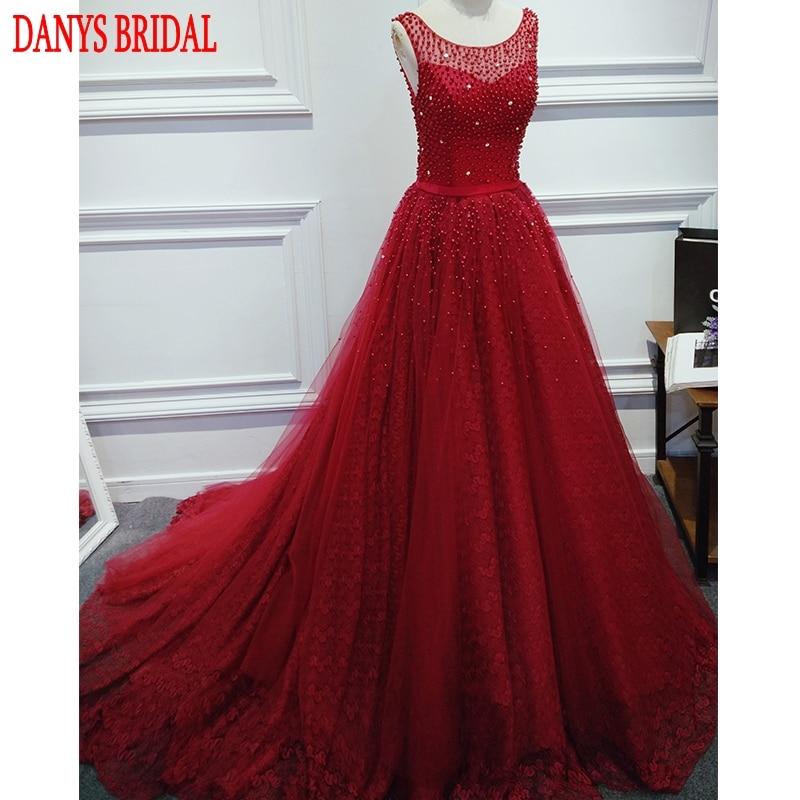 Crvena ili zelena Duga večernja haljina Party Beaded biseri Luksuzni - Haljina za posebne prigode - Foto 4