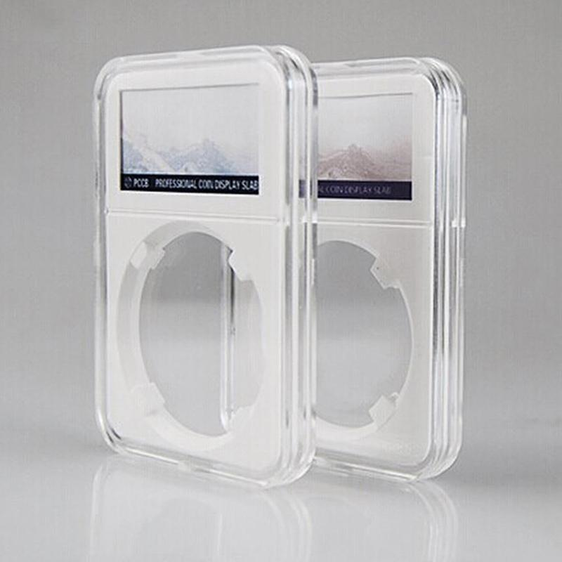 1Pc 40mm Fashion White Coin Storage Box Case Protector PCCB Protector NGC PCGS Grade Collection Box High Quality