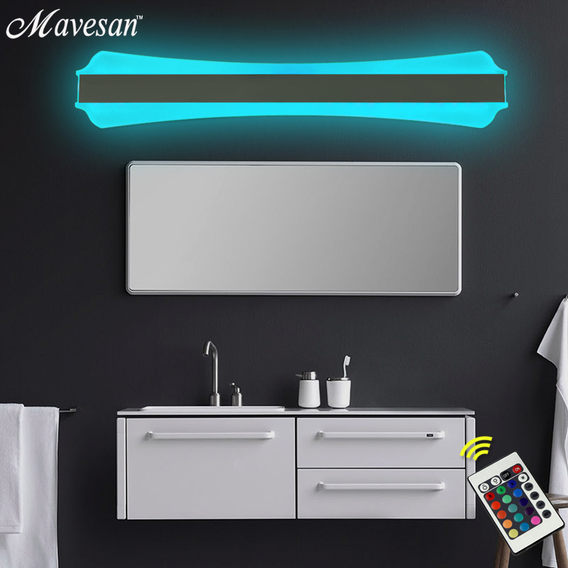 Bathroom Led Mirror Light Indoor Waterproof RGB Led 53x10 cm For Bathroom Wall Sconce Lamp Apliques De Pared Luz modern led bathroom light stainless steel led mirror lamp dresser cabinet waterproof sconce indoor home wall lighting fixtures