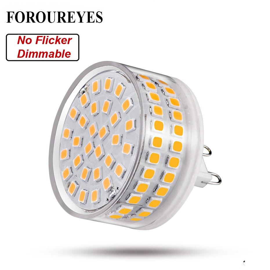 Bombilla LED regulable G9 AC120V 220 V 8 W 90 LEDS SMD2835 sin parpadeo lámpara de luz LED 780LM lámpara de araña reemplazar 80 W iluminación halógena
