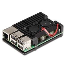 Nova CNC Da Liga de Alumínio Caso Com 3 Dupla Ventilador de Refrigeração do dissipador de Calor para Raspberry Pi Modelo B/Pi 3 B +
