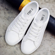Vulcanized Shoes Women White Sneakers Tenis Feminino PU Leat
