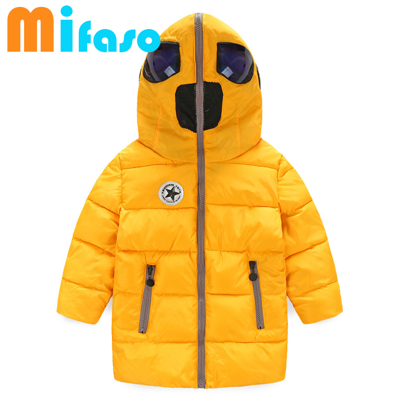 39e4c12f7 2019 children Winter hooded down kids jackets Boys Coats girl Hooded  Outerwear Cotton Padded clothes kids snowsuits 15-754