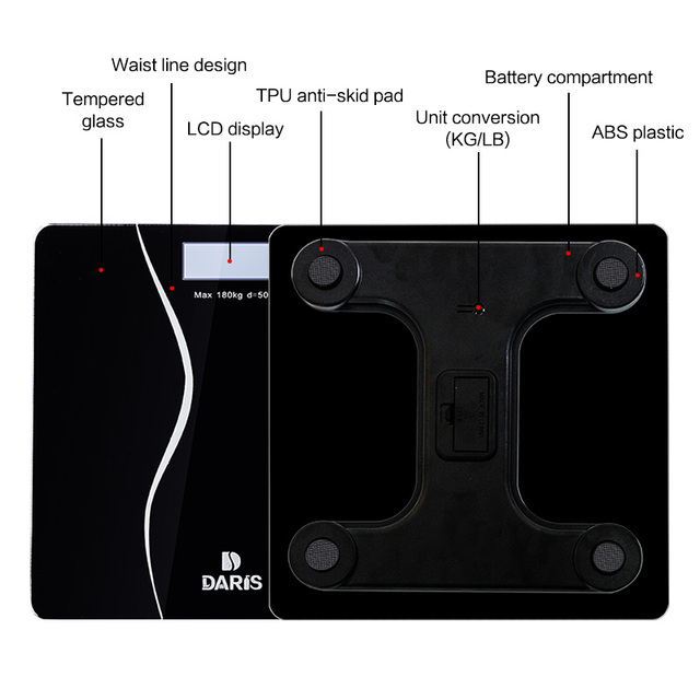 Bathroom Scales – Body Smart Electric Digital Weight Scale with LCD Display