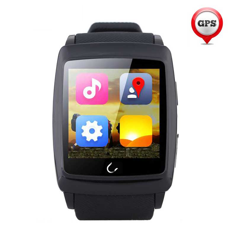 U18 Bluetooth Smart Watch life waterproof Android4.4 dual-core processor Wifi 4G ROM sleep monitoring For IOS Andorid Smartphone wavelets processor