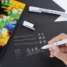 0,8 мм белые/Золотые/Серебристые чернила цветной фотоальбом гелевая ручка хайлайтер Канцтовары офисный школьный принадлежности