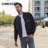 SIMWOOD 2019 Spring Winter MA 1 Unfilled Flight Jacket Men Fashion Zipper Bomber Baseball Jacket Plus Size Brand Clothing 180500