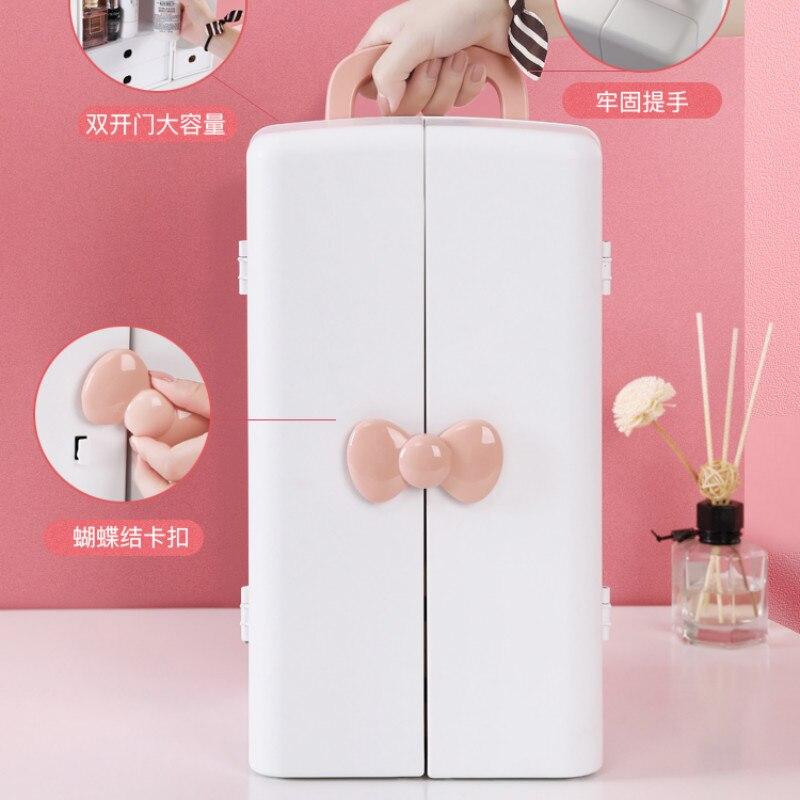 Boîte de rangement cosmétique commode domestique boîte de finition de bureau armoire de rangement en plastique grande capacité étagère de soins de la peau XI3081619