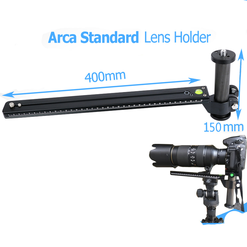 Telephoto Zoom Lens Bracket Long-Focus Camera Support with Long Rail Quick Release Plate 1/4 3/8 Mounting Screws for Arca Swiss micro camera compact telephoto camera bag black olive