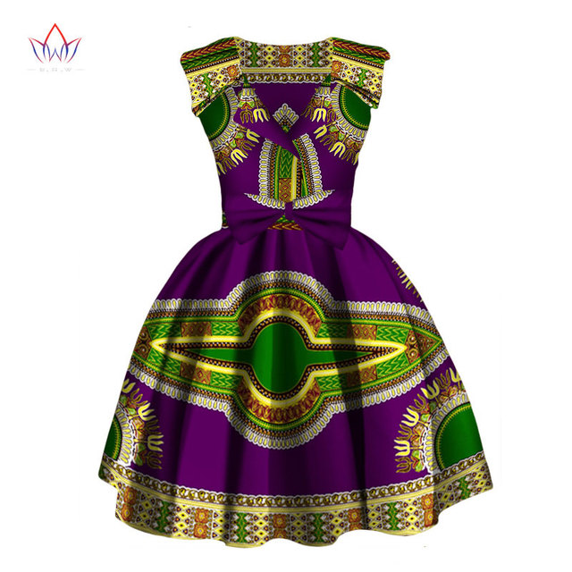 ac0947c139e Women African Clothing 2017 Dashiki Sleeveless Dress Knee-Length A-Line  African Print Dresses