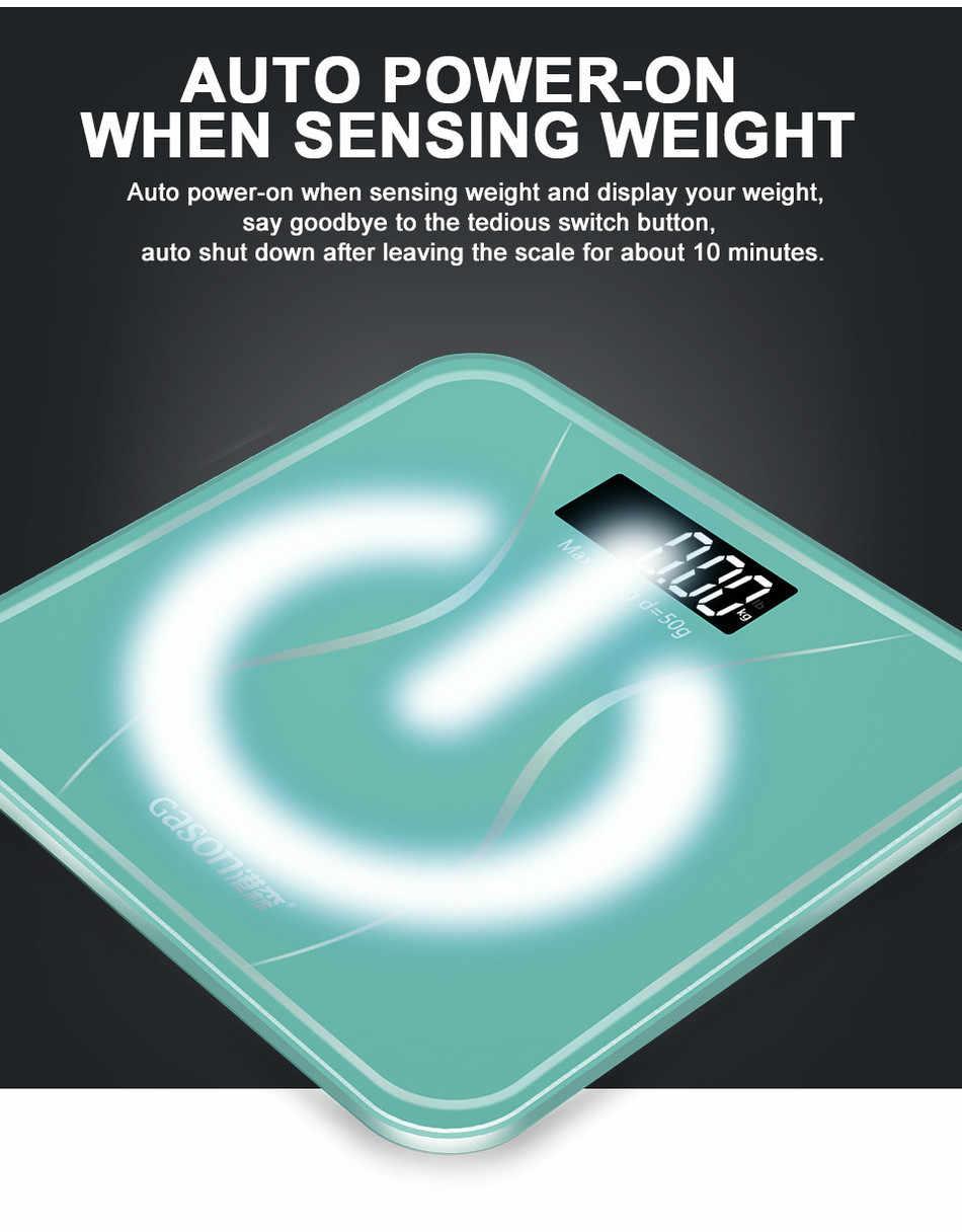 Meilleure vente GASON A2s180kg Vision nocturne salle de bains ménage poids échelle intelligente corps balance LCD numérique étage échelle lb kg