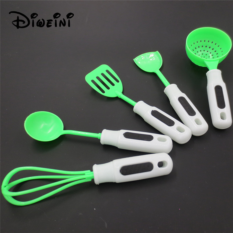 5pcs Set Kitchen Toys For Barbie House Kid S Utensils Cooking Pots Children Pans Food Dishes For Barbie Toy Dolls Accessories