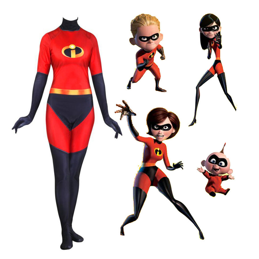 The Incredibles 2 Elastigirl Cosplay Costume Halloween costumes adult Women Cosplay Helen Parr Elastigirl Jumpsuit