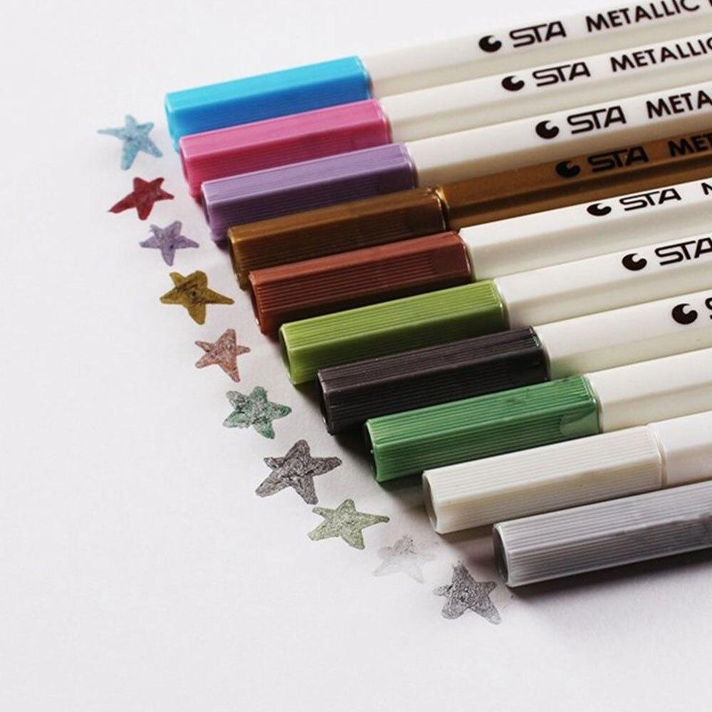 10Pcs/Lot 10Colors Marker Pen Sharpie Posca Permanent Marker Paint Pen Gifts Sharpie Marker Colorful School High Quality