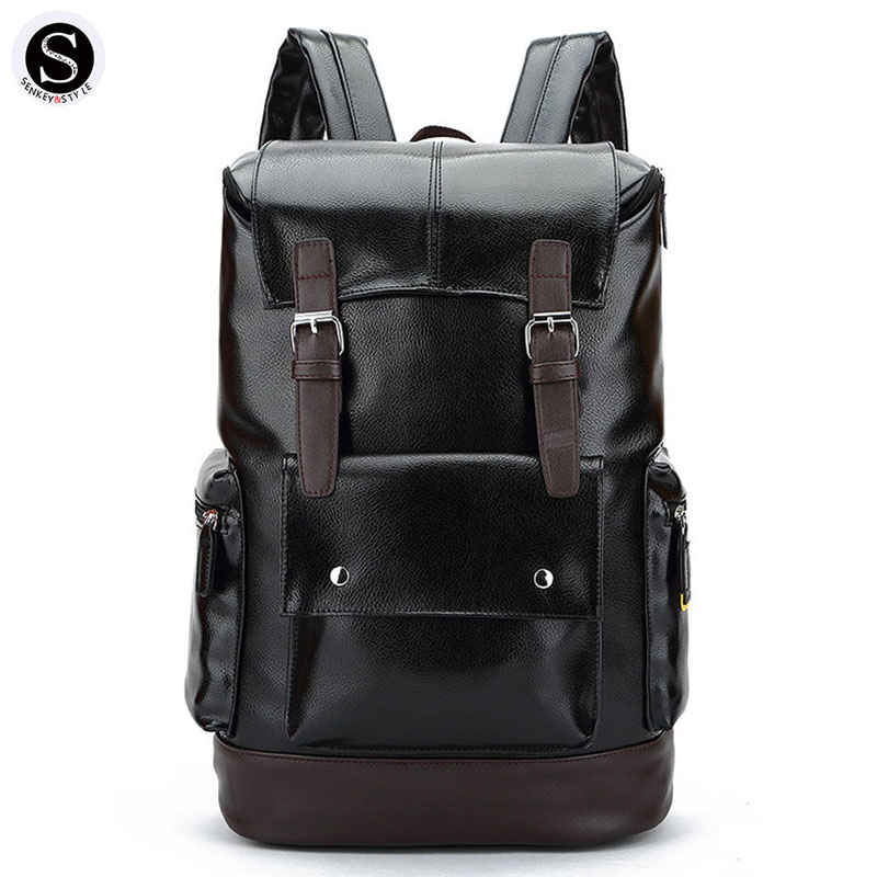 Senkey Style Fashion Men Backpack Bag 15 Inch Notebook Laptop Backpack Men School Bags For ...