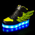 2017 moda luminoso led para niños niños casual shoes usb glowing carga de boys & girls sneaker con 7 colores iluminan nueva