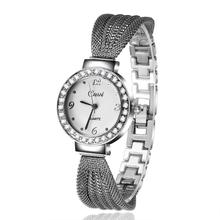 2016 New Design High Quality Lady Stainless Steel Band Quartz Watch Fashion Temperament Personality Women Rhinestone Watches
