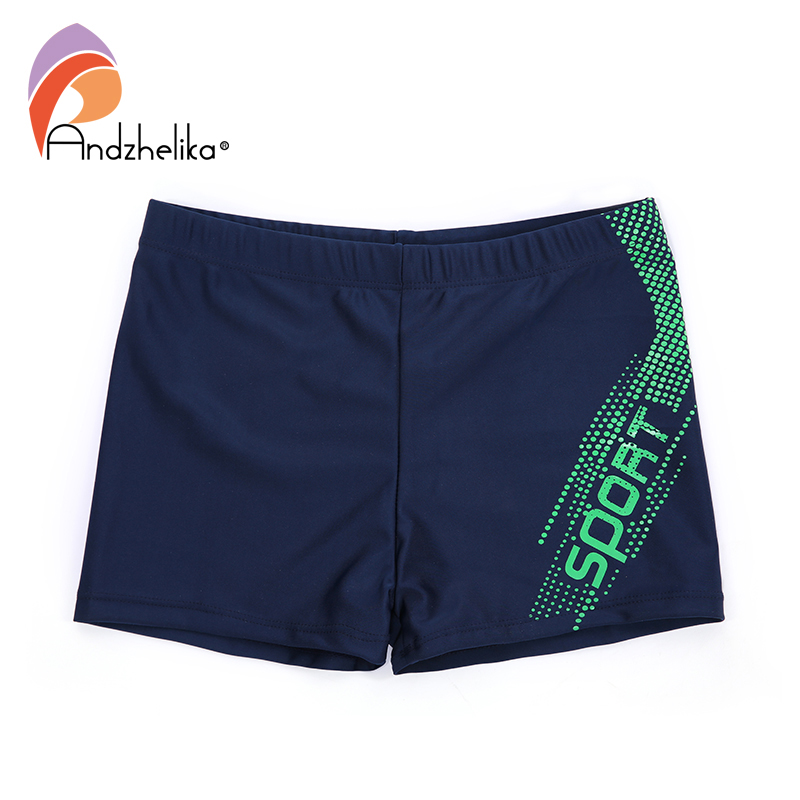 Andzhelika New Boys Swimwear Breathable Men's Letter Sport Trunks Children Swimming Shorts Boys Beach Swimwears Boy's Clothing