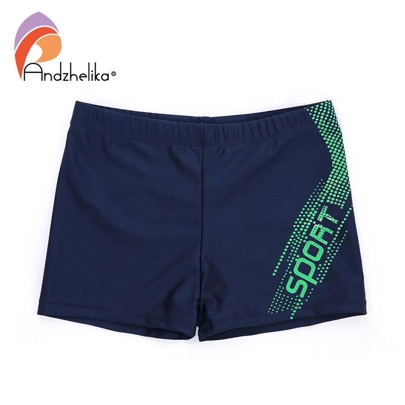 Andzhelika New Boys Swimwear Breathable Men's Letter Sport Trunks Children Swimming Shorts Boys Beach Swimwears Boy's Clothing