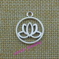 10pcs/lot Zinc alloy pendant jewelry Ancient  lotus Pendant Jewelry findings DIY 20mm