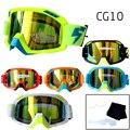 Profesional Velocidad Lobo LY100 Motocross Gafas Anti-Vaho Lente Transparente offs Lacrimógenos Películas Motor Bike ATV Gafas Gafas CG10