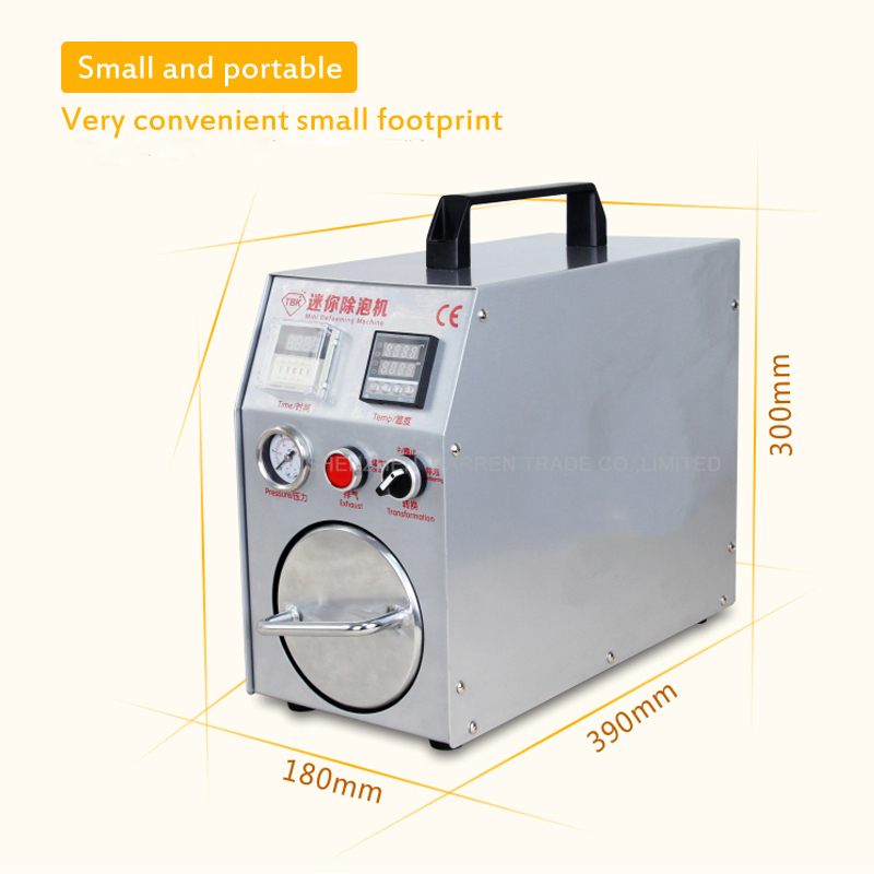 Newest Mini Defoaming Machine OCA Adhesive Sticker High Pressure LCD Touch Screen Air Bubble Remove Machine for Mobile Refurbish autoclave bubble remover oca adhesive sticker lcd air bubble remove machine air compressor glass refurbishment cellphone