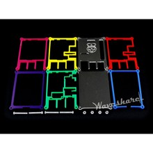 Rainbow Case (Type B) 7 colors for Raspberry Pi for use with Raspberry Pi 2/3 Model B allows working with LCD & expansion boards