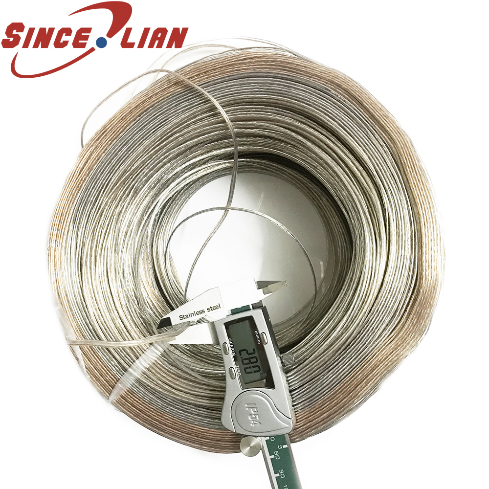 50m/100m Lighting Lamps Transparent Electrical Wire Pendant Light Power Cord 2*1.3/2*1.4mm Power Cord Audio Cable
