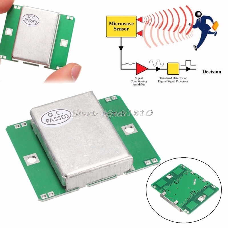 HB100 Microwave Motion Sensor 10.525GHz Doppler Radar Detector For  Drop Ship