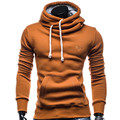Men Hoodies Soild Sling Male Sweatshirt Fashion Pullover Tracksuit Long-Sleeved Fashion Brand Sweatshirt Four Colors Slim Hoody