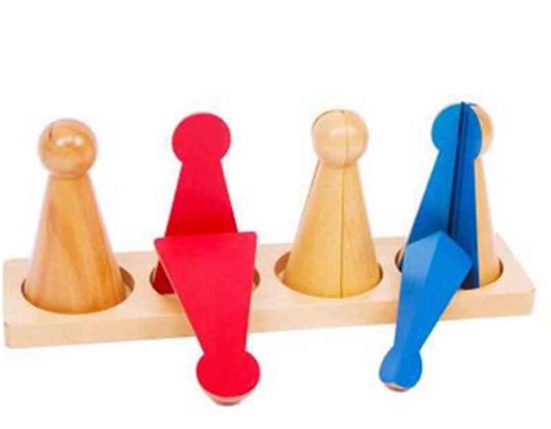 New Baby Toy Montessori Família Versão Pequena Fração Skittles com Bandeja de Madeira Cedo Preschool Crianças