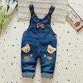 Бесплатная Доставка! девушки Комбинезоны, детские джинсы милый одежда для животных лук маленьких детей комбинезоны для малышей одежда РОЗНИЧНАЯ e539