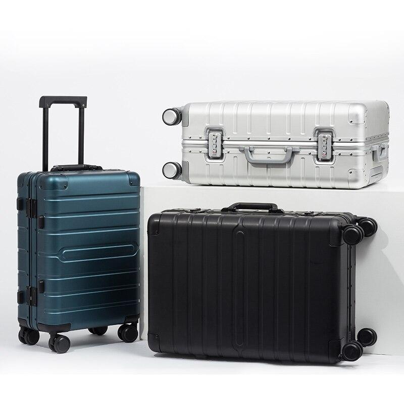 2018 NEW 100% aluminum alloy TSA customs password lock trolley case universal wheel luggage bag business boarding suitcase d1047 2sd1047 2sb817 d1047 b817