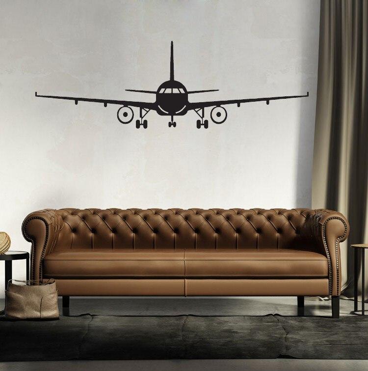 Removable 3D Airplane Wall Sticker House Muraux Art Decor Wall Mural