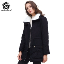 hydiber 2017 New Winter Coat Women Slim Plus Size Outwear Medium-Long Wadded Jacket Thick Hooded Cotton Fleece Warm Cotton Parka
