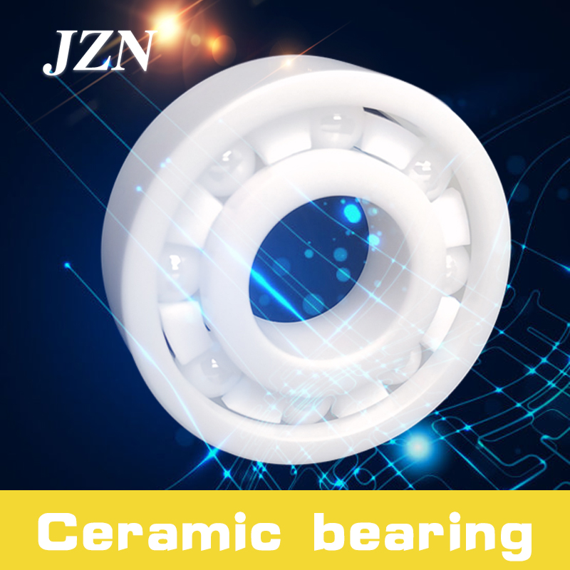 Free Shipping 6200 6201 6202 6203 6204 6205 6206 6207 6208 6209 6210  Zirconia With Cage / Seal / Full Ball Ceramic Bearing
