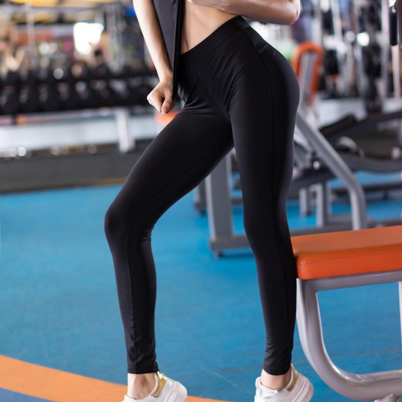2017 Yoga Pants Blank Sport Leggings Women Sexy Yoga