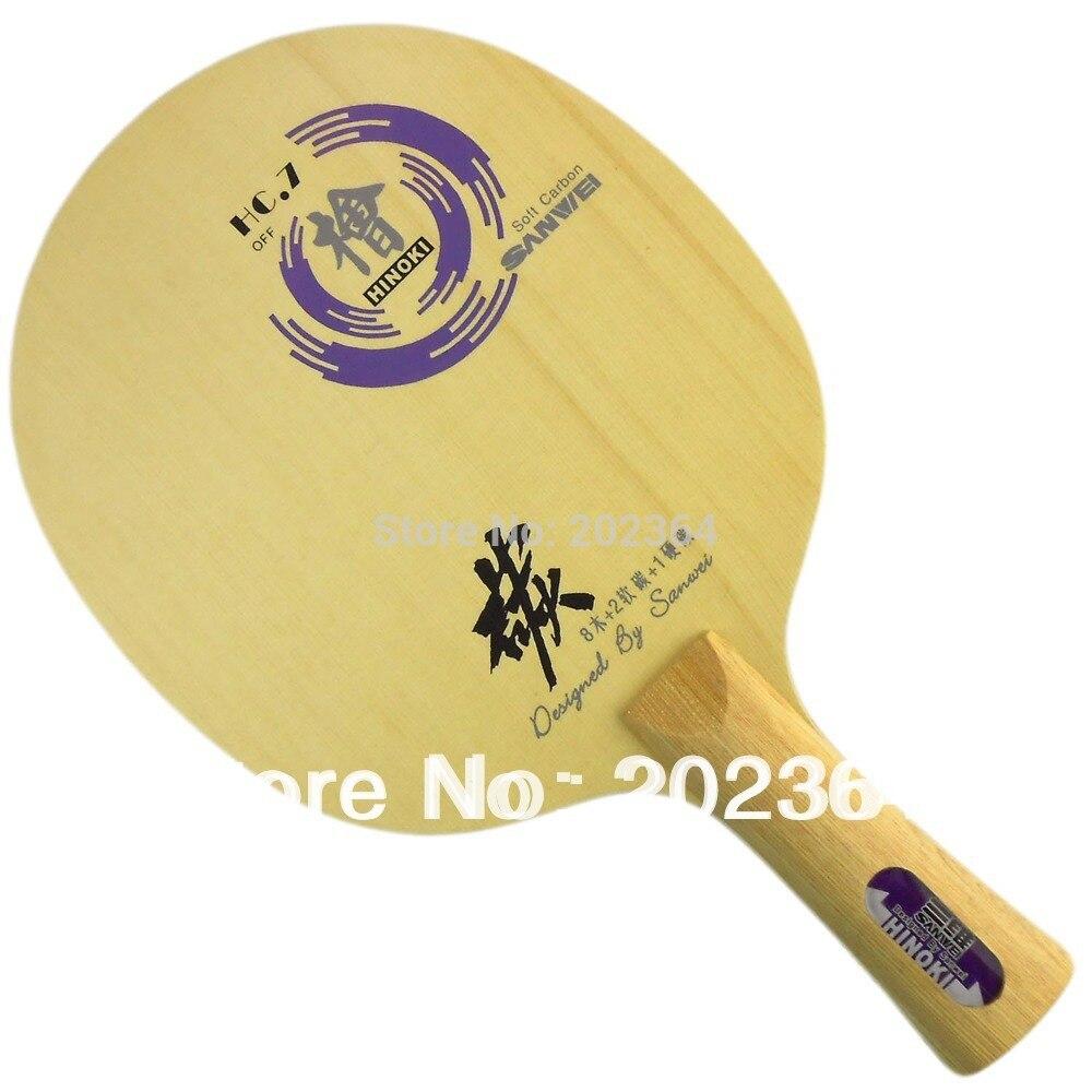 Sanwei HC.7 (HC-7, HC 7) HINOKI Soft-Carbon OFF Table Tennis Blade for PingPong Racket