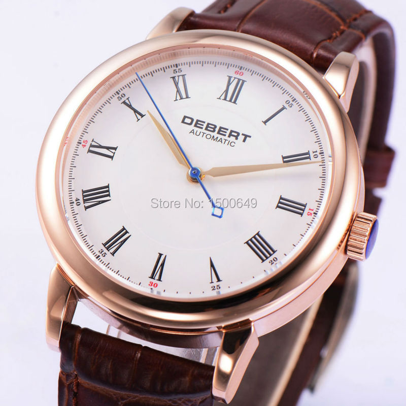 40mm Debert White dial Sapphire Glass Automatic men Watch 1954