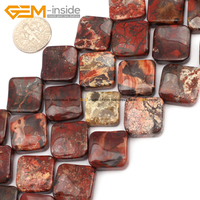 16mm Diagonal Square Beads Indian Agate Beads Red Jasper Beads Natural Bonus Stone DIY Fashion Jewelry