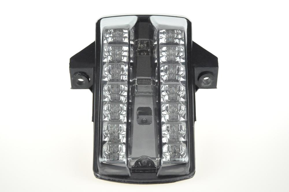 Светодиодный Встроенный задний фонарь поворотник для SUZUKI SV650/SV1000 03-08 - Цвет: Темно-серый
