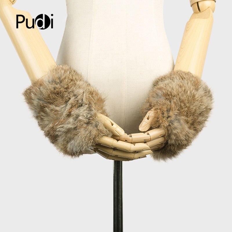 Pudi GF704 בעבודת יד סרוגה בעבודת יד בד אמיתי REX כפפות כפפות חורף כפפות פרווה ארנב כפפות עם כפפות