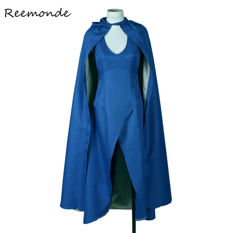 Movie Game of Thrones Daenerys Targaryen Cosplay Costume long Blue Dresses Cosplay For Women Girls Halloween Party Costumes