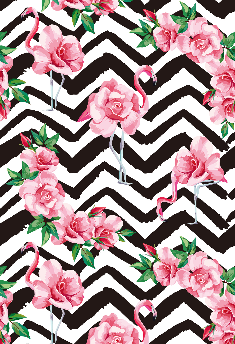 HUAYI tropic pink flamingo rose flowers black and white zigzag Photography backgrounds Vinyl Studio Photo backdrop XT-6568 harman kardon onyx studio 2 black