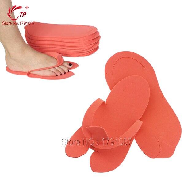 f7d3e8ad9ebf TP 12pairs lot Disposable Spa Pedicure Slippers Comfortable Convenient Flip  Flop Foot 27 10cm EVA Foam Material Nail Art Salon