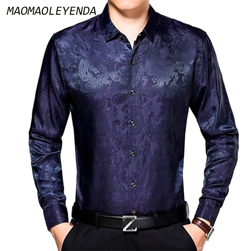 maomaoleyenda männer echte seide hemd hohe qualität bussiness - Herrenbekleidung - Foto 1