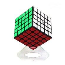 Cubo mágico neo qiyi qizheng 5x5x5 e 5x5, cubo mágico autoadesivo anti-adesivo-estresse 5 por 5 brinquedos para crianças