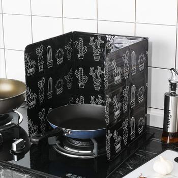 Gadżety kuchenne ekrany rozpryskowe oleju płyta z folii aluminiowej kuchenka gazowa odporna na zachlapanie przegroda strona główna kuchnia narzędzia kuchenne tanie i dobre opinie Ce ue Specjalne narzędzia CFXY0048 Ekologiczne Zaopatrzony Splatter ekrany Aluminum foil