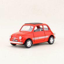 1:24 Paduan Menarik Kembali Mobil Mainan Imitasi Tinggi 2 Pintu Terbuka Fiat 500 Coran Logam, kualitas Tinggi Koleksi Gratis Pengiriman